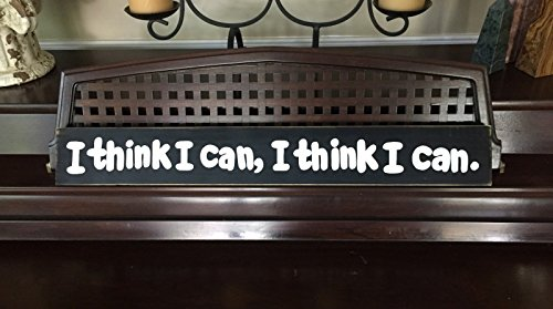 I Think I Can I Think I Can Little Engine That Could Railroad Room Décor Sign Plaque Wooden YOU Pick Color HP FREE SHIPPING - Hewlett Packard Engine