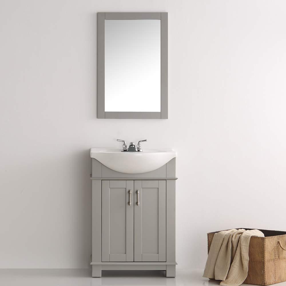 Fresca fvn2302gr cmb hartford 24 gray traditional bathroom vanity amazon com