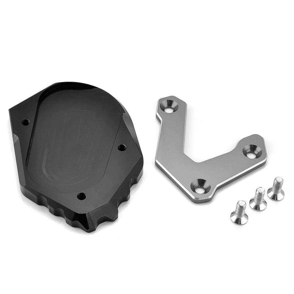 PACASK Side Stand Motorcycle CNC Kickstand Foot Side Stand Extension Pad for BMW R1200GS LC 14-18 R1250GS Black