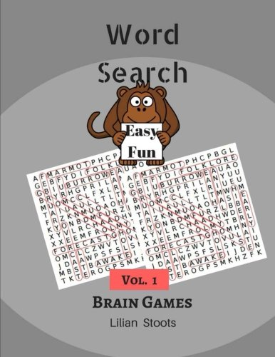 Word Search Easy Fun Brain Games Volume 1: 101 Large Print Puzzles Books Games ebook