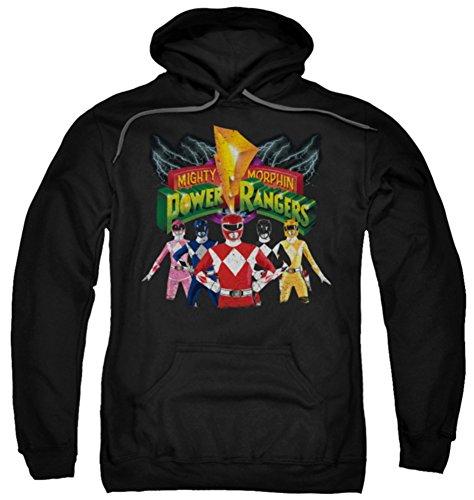 Ae Mens Sweater (Hoodie: Power Rangers - Rangers Unite Pullover Hoodie Size)