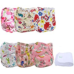 Minimum weight recommendation: 6 .6 Pounds. Maximum weight recommendation :33 Pounds. Size adjustable,they can be small ,middle and large. T DIAPERS cloth diapers fit for most babies from 6.6 to 33+ pounds. Length of Diaper: 15 inches in leng...