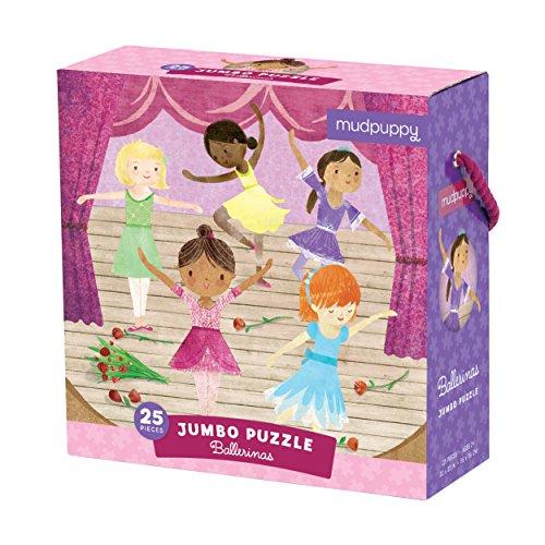 Mudpuppy Ballerinas Jumbo Puzzle, 25 Jumbo Pieces, 22