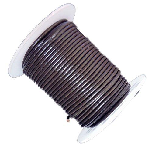Rockin Beads Dark Brown 2mm Buffalo Leather Round Cord 25 Yards