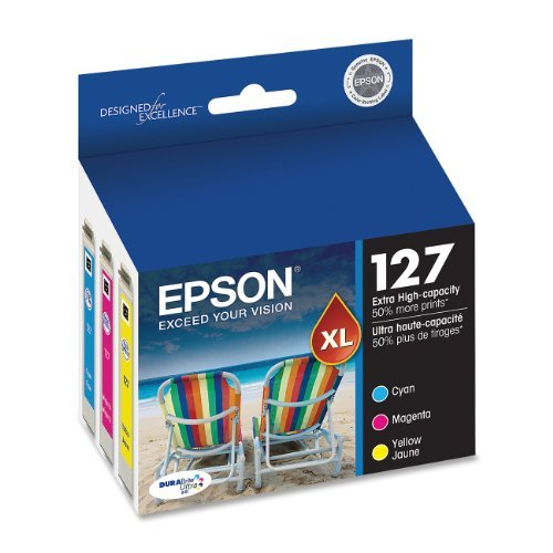 Consumer Inkjet Ink (Epson DURABrite T127520 Ultra 127 Extra High-capacity Inkjet Cartridge Color Multipack-Cyan/ Magenta/ Yellow Color: Color Multipack)