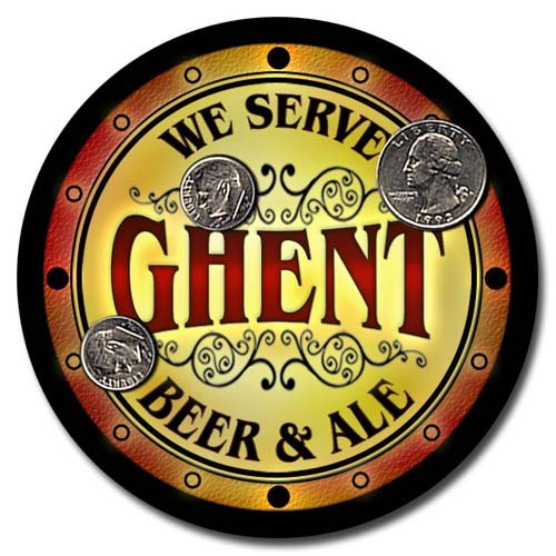 Ghent Family Golden Beer & Ale Rubber Drink Coasters