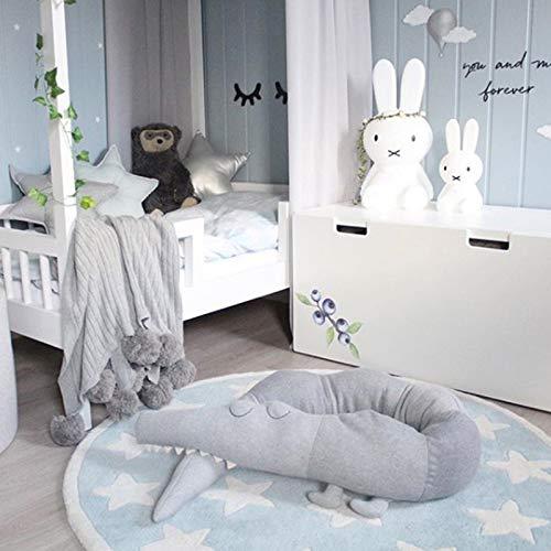 MaJia Almohada de Cocodrilo para Ni/ños 185cm para Protector Valla Dormitorio Sala de Estar Hogar Cuna Juguetes Decorativos para Habitaciones Infantiles