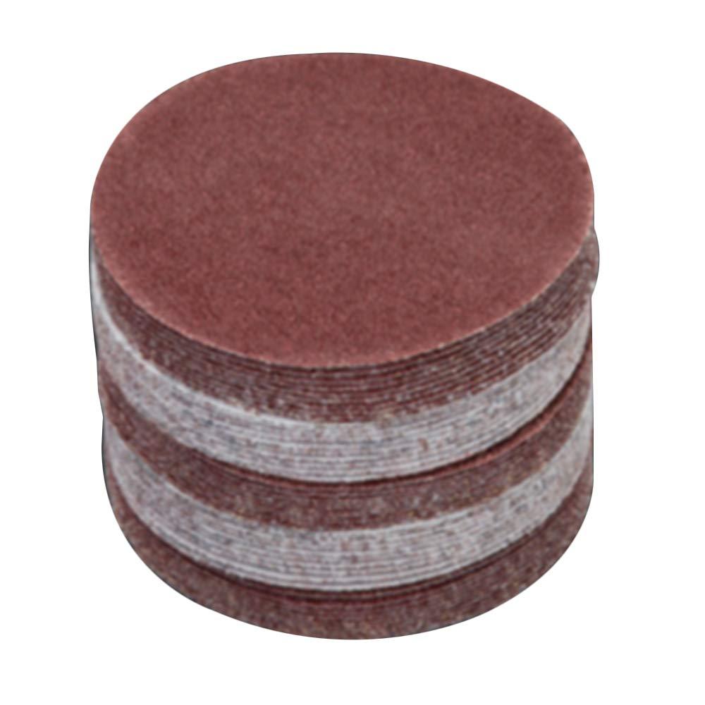 20pcs Grit 4 inch 100mm Abrasive Paper Flocking Sandpaper Pad Sanding Disc (120#)