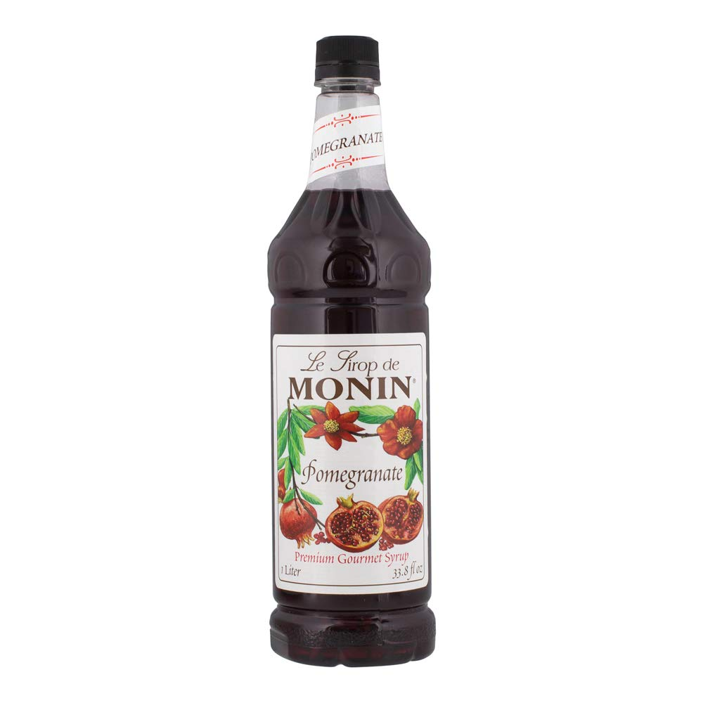 Monin - Pomegranate Syrup, Tart and Sweet, Great for Cocktails and Teas, Gluten