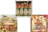 Fall Cocktail Napkins: Bundle Includes 60 Beverage Napkins in 3 Different Fall Harvest Designs
