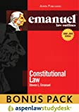 Emanuel Law Outlines: Constitutional Law (Print + eBook Bonus Pack): Constitutional Law Studydesk Bonus Pack