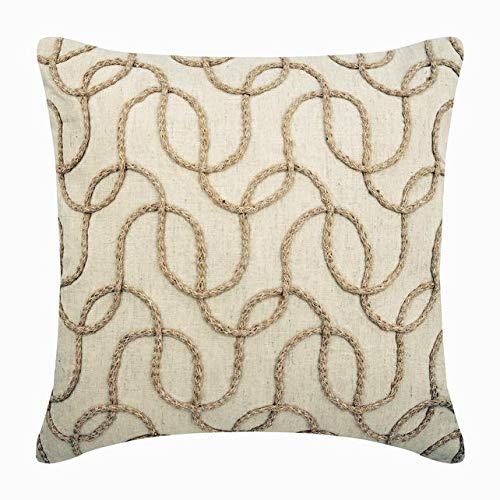 Amazon.com: Diseñador Beige decorativos fundas de almohada ...