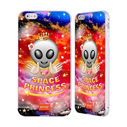 Officiel Emoji Princesse Espace Argent Étui Coque Aluminium Bumper Slider pour Apple iPhone 6 Plus / 6s Plus