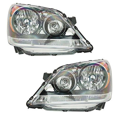 - Headlamp Headlight Left/Right Pair Set for 08 09 10 Odyssey