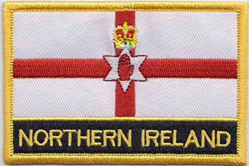 1000 Flags Northern Ireland Country Flag Embroidered Blazer Badge Patch