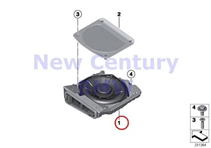 Amazon com: BMW Genuine Components Central Bass Right