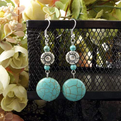 1set New Chic Fashion Womens Jewelry Turquoise bead Type Ear Stud Earrings Gift