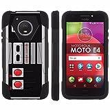 [Mobiflare] Dual Layer Armor Case [Kickstand] for Motorola Moto E [4th Gen] [Black/Black] Mil-Spec – [NES Video Game Controller] Review