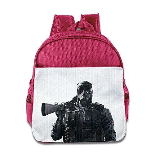Price comparison product image XJBD Custom Superb Tom Clancy's Rainbow Six Siege Children School Bagpack Bag For 1-6 Years Old Pink