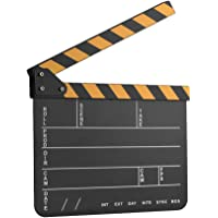 Docooler Dry Erase Acryl Director Film Clapboard Film TV Cut Action Scene Clapper Board Slate met Geel/Zwarte Stick…