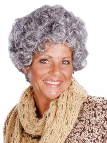 [Enigma Wigs Women's Nanna, Mixed Grey, One Size] (Old Grandma Costumes)