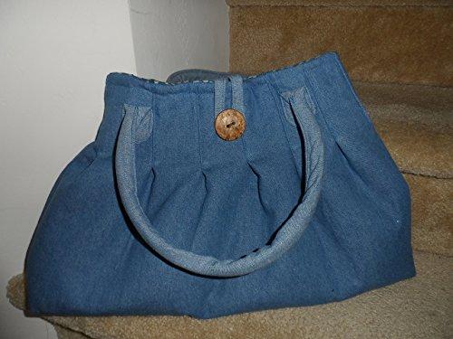 Jeans Hobo Bag/Shopping Bag/Pleated Bag/ Large Handbag/Denim Bag/Shoulder Bag/Denim Purse/Blue Purse - Pleated Handbag Purse