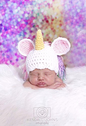 Amazon.com  Crochet Unicorn Hat 6a5bbd1bd27