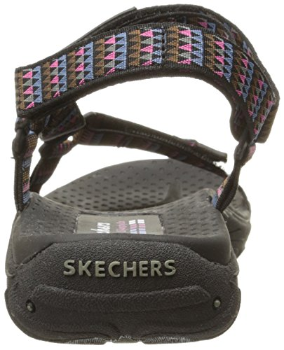 Redemption Multi Sandal Flat Reggae Black Women Skechers ExqwT1aT