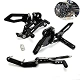KEMIMOTO FZ 09 Rear sets Adjustable Rearsets Foot Pegs for 2014 2015 2016 Yamaha FZ09 FZ-09