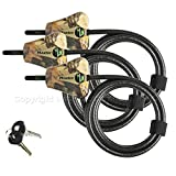 Master Lock - Python Trail Camera Adjustable Camouflage Cable Locks 8418KA-8 CAMO 8-pack