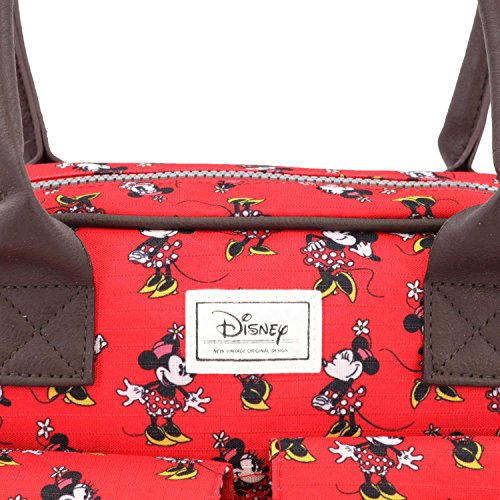 Cm Minnie Cheerful Sac Rouge Disney Bandoulière Classic rojo 33 qFAOY