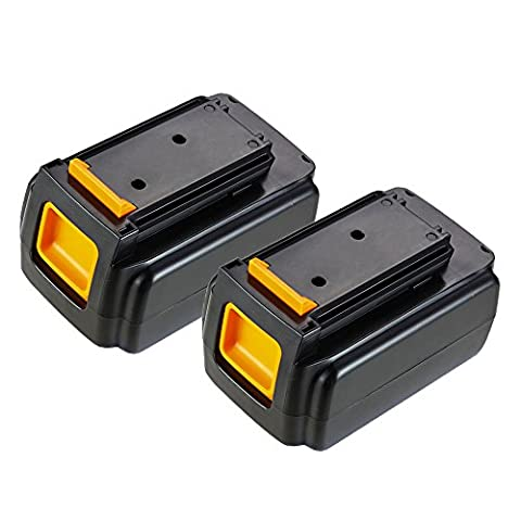 2 Pack Masione 40 volt Max Lithium Ion Replacement Battery for Black & Decker 40Volt Max and 36V Lithium Cordless Tools Trimmer Edger Sweeper Chainsaw LCS1240