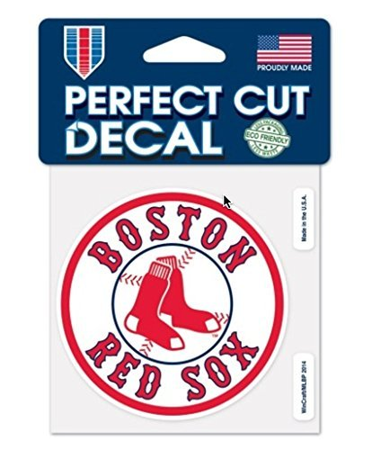 Boston Red Sox Sticker (MLB Boston Red Sox Official 4''x4'' Logo Perfect Cut Decal)