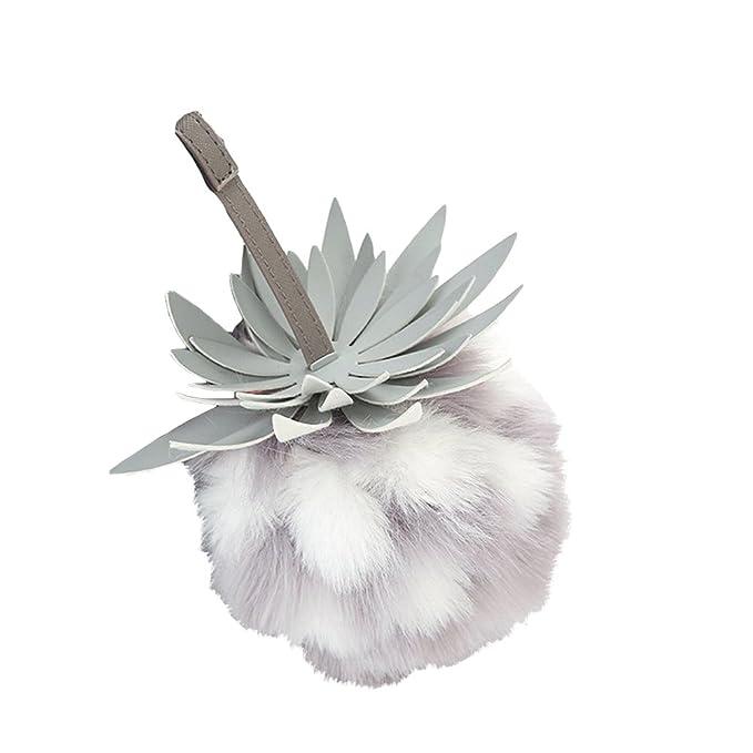 Amazon.com: Bonito diseño de fruta Fluffy llavero pompón ...