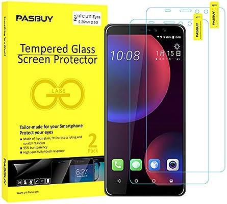 PASBUY - Protector de Pantalla de Cristal Templado para HTC U11 ...