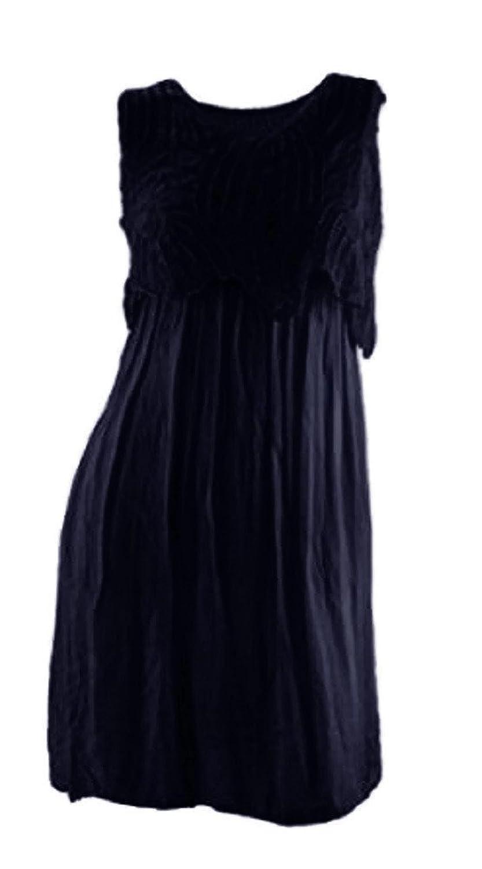 #2105 Damen Designer Kleid Spitze Sommerkleid Knielang ...