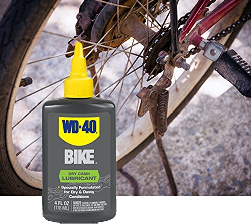 WD 40 BIKE Dry Chain Lubricant Wax Free Bicycle Chain Lube for Dry Conditions. 4 oz. (Pack of 1)