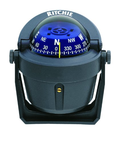 Ritchie Explorer Compas Dial with Adjustable Bracket Mount and 12V Green Night Lighting (Gray, 2 3/4-Inch)