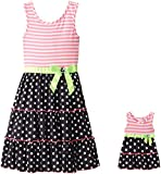 Dollie & Me Big Girls' Polka Dot Tiered Sundress