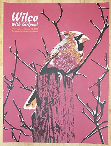 2016 Wilco - Roanoke Silkscreen Concert Poster by Nick Van Berkum