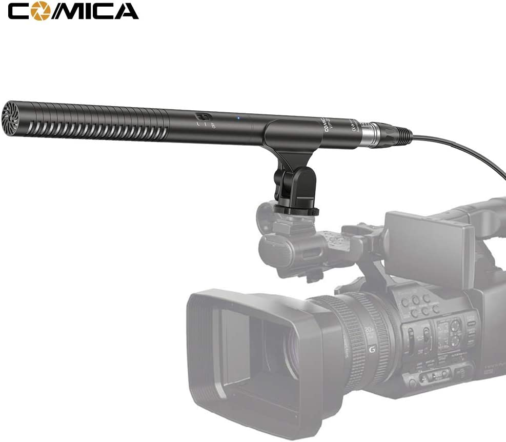 RuleaxA COMICA CVM-VP2 Shotgun Microphone Super Cardioid Condenser Photography Interview Video Mic for Canon Nikon Sony Camera Camcorder with 3.5mm /& XLR Cable