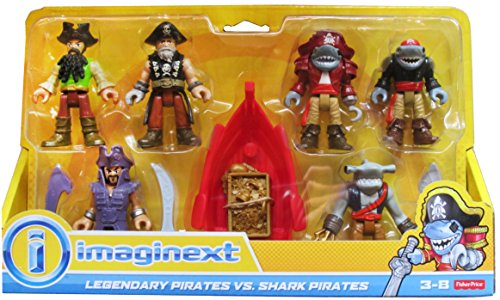 Fisher-Price Imaginext - Legendary Pirates vs. Shark Pirates Figure Set