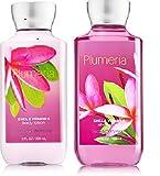 Cheap Bath and Body Works Plumeria (1) Body Lotion & (1) Shower Gel Set-Full Size Bottles