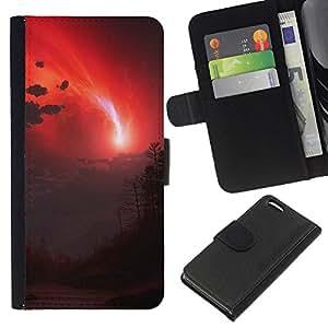 Stuss Case / Funda Carcasa PU de Cuero - Cielo rojo - Apple Iphone 5C