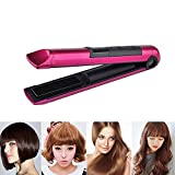 Hair Straightener, USB Charging Mini Travel Flat Iron Hair Cordless Straightener with Double-sided 3D Floating Heating plate & Adjustable Temperature for Women Men Kids