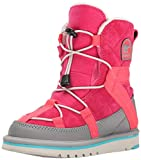 SOREL Youth Glacy Short BR RO Cold Weather Boot (Little Kid/Big Kid), Bright Rose, 7 M US Big Kid
