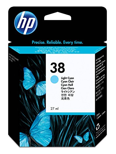 HP 38 Light Cyan Pigment Original Ink Cartridge (C9418A) ...