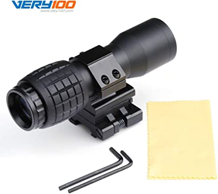 5X Magnifier w// FTS Flip to Side Mount fits Reflex /& Holographic Sights Scope