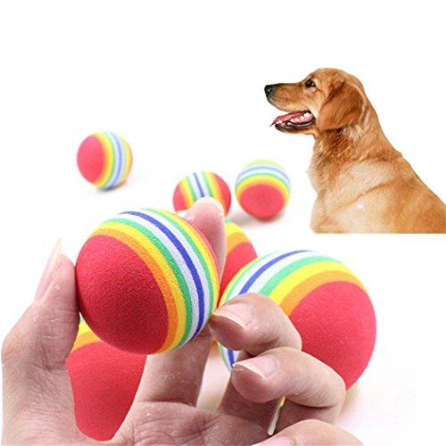 Kanzd 3Pcs Tough Rubber Ball Pet Dog Toy Training Chew Play Fetch Bite Toys (Box Rubber Dog Toy)