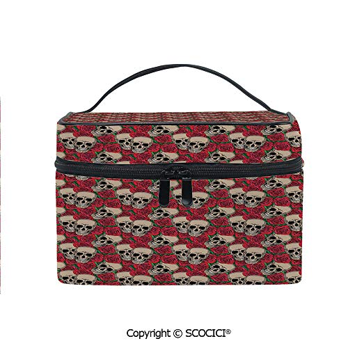 Makeup Case Double Zipper Travel Cosmetic Bags Graphic